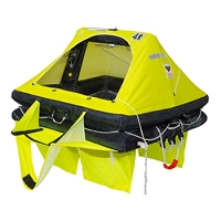 Viking RescYou 4 Person/ ISO 9650-1 ISAF Offshore Raft w/Boarding Ramp, Thermal Floor