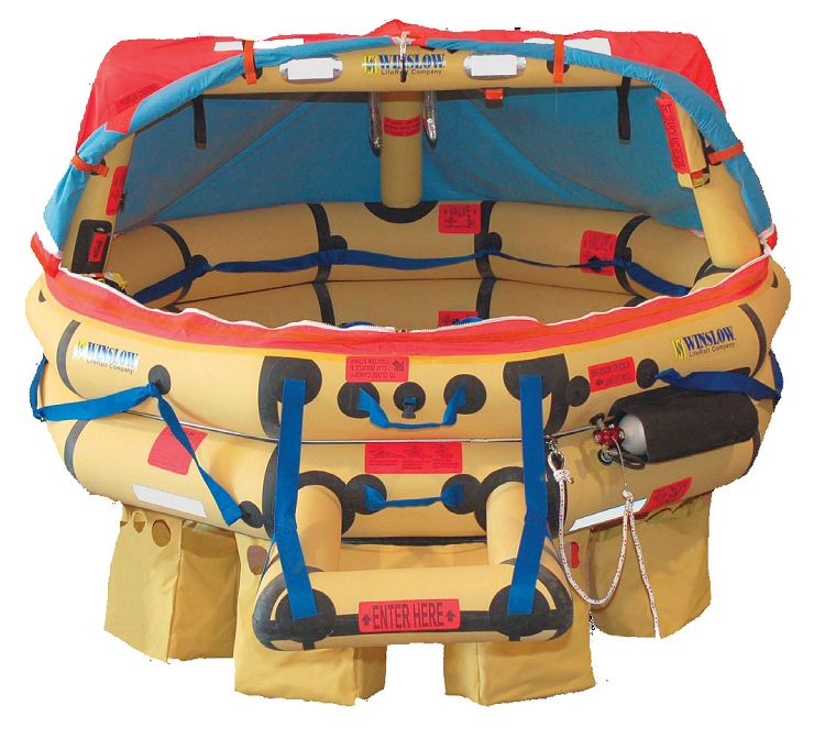 WINSLOW ISO GLOBAL RESCUE RAFT - 4 Man