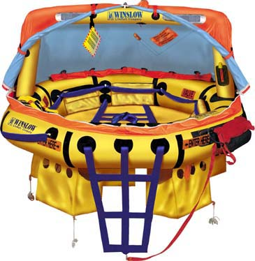 Winslow FAA Approved Part 91/121 (6 to 9 man) Island Flyer Life Raft