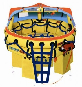 Winslow/Valise Pack - 8 Man Super Light Offshore Plus Life Raft