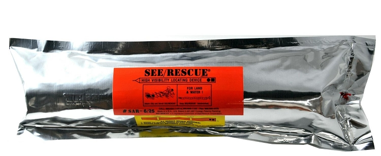 SEE/RESCUE STREAMER - SAR - 6/25 CLRR Lighted Version