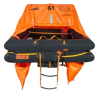 Sea-Safe Coastal 6C Life Raft - Hard Case
