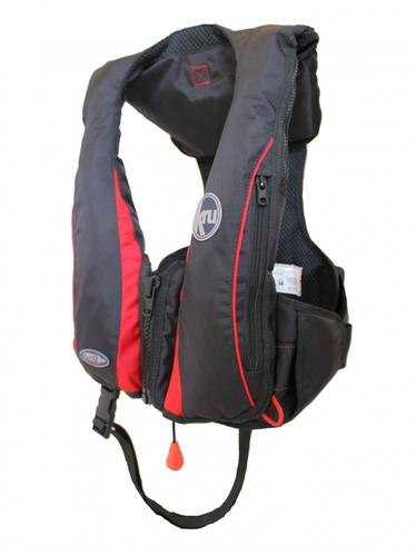KRU Sport Pro Inflatable PFD - Black/Red