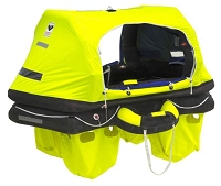 Viking RescYou Pro 4 Person/ ISO 9650-1 ISAF Self Righting Raft w/Boarding Ramp, Thermal Floor