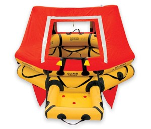 T4AS 4 Man VIP Series Life Raft DELUXE-FAR 121  p/n : R1200-401