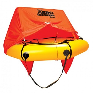 4 Person Aero Compact Life Raft w/Canopy & STANDARD Kit